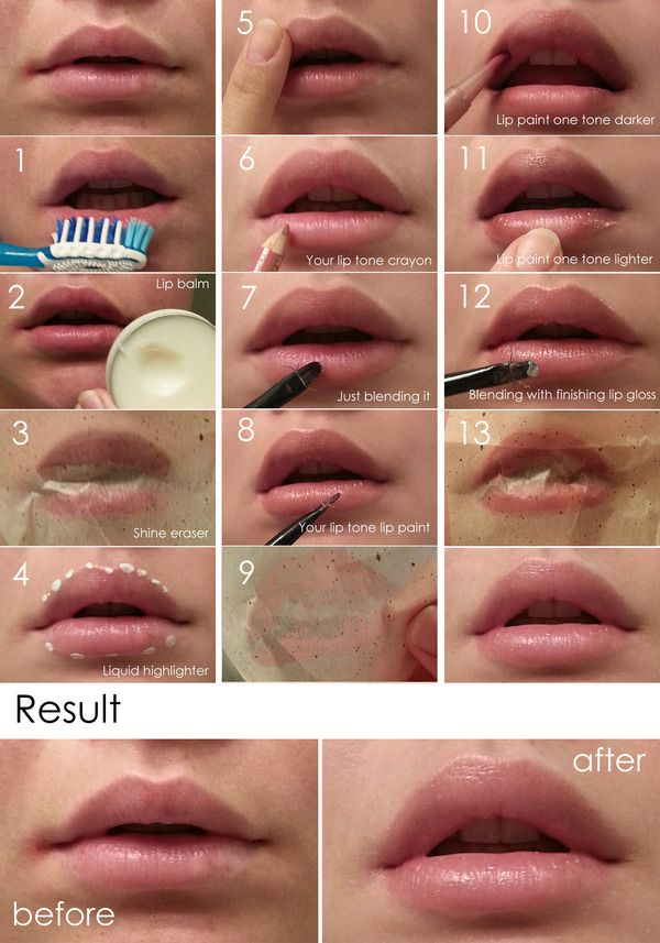 natural lip look tutorial. Finally! Something to make my lips look fuller!