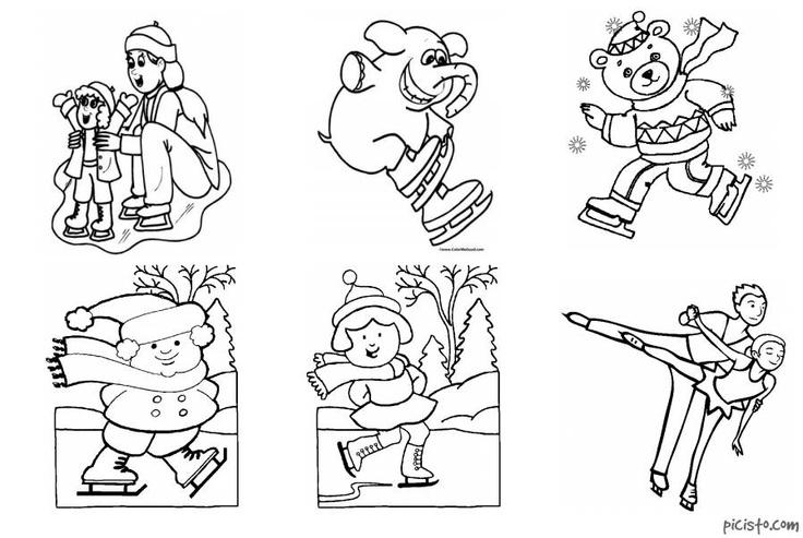 Maro's kindergarten: Figure sports printables