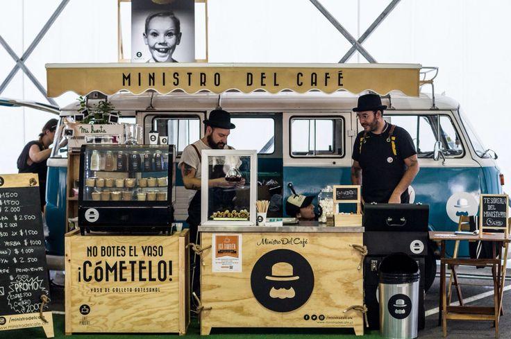 Ministro del café. Santiago. Chile. Coffee, tea, vw, Volkswagen, kombi, combi, kleinbus, Foodtruck, food, truck.