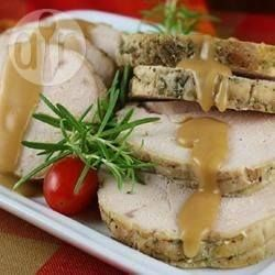 CHRISTMAS LUNCH Recipe: Slow cooker tender turkey crown Christmas dinner with rosemary and thyme