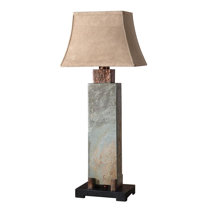 Uttermost Tall Slate Outdoor Table Lamp | From Hayneedle.com