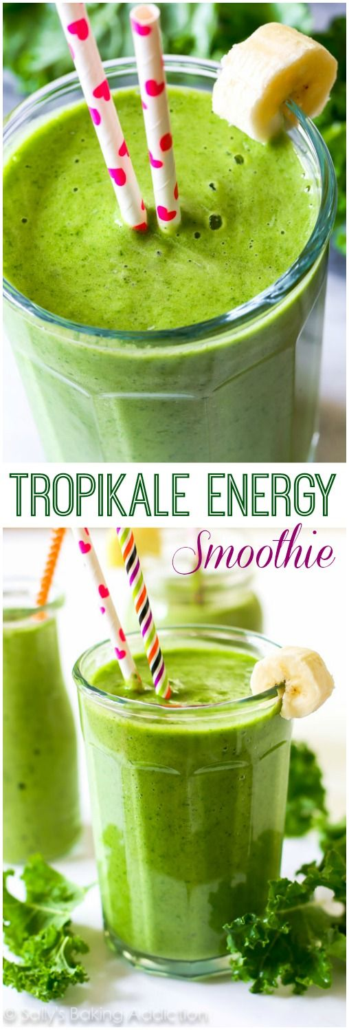 A simple 4 ingredient, incredibly thick green smoothie filled with healthy produce and leaving you energized. And it actually tastes good.