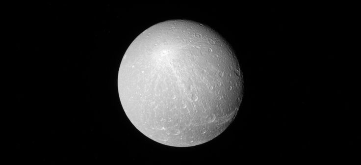 Rays of Creusa When viewed from a distance with the sun directly behind Cassini the larger brighter craters really stand out on moons like Dione.