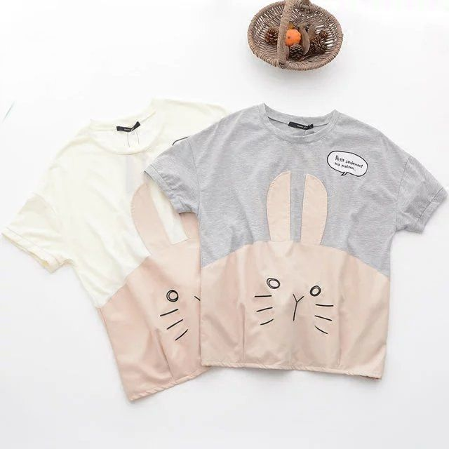 Girly Girl Boutique T-Shirt on Girly Girl の To Alice.Cartoon Bunny Cotton Short T-Shirt Mori Cute Tee Gg292 Alternatively stay bang up to date with the latest retro-look , adding 80's style glamour with a 24st Century twist.