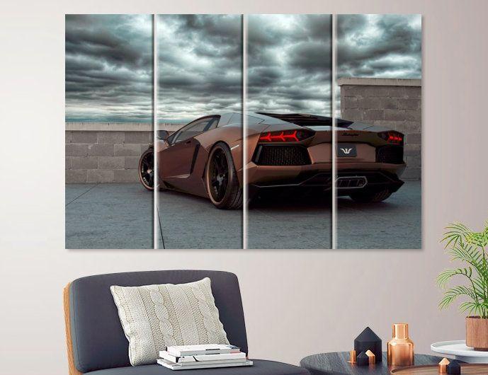 Super Sport Car Lamborghini Wallpaper Mural Photo Children Poster DIY Decoration