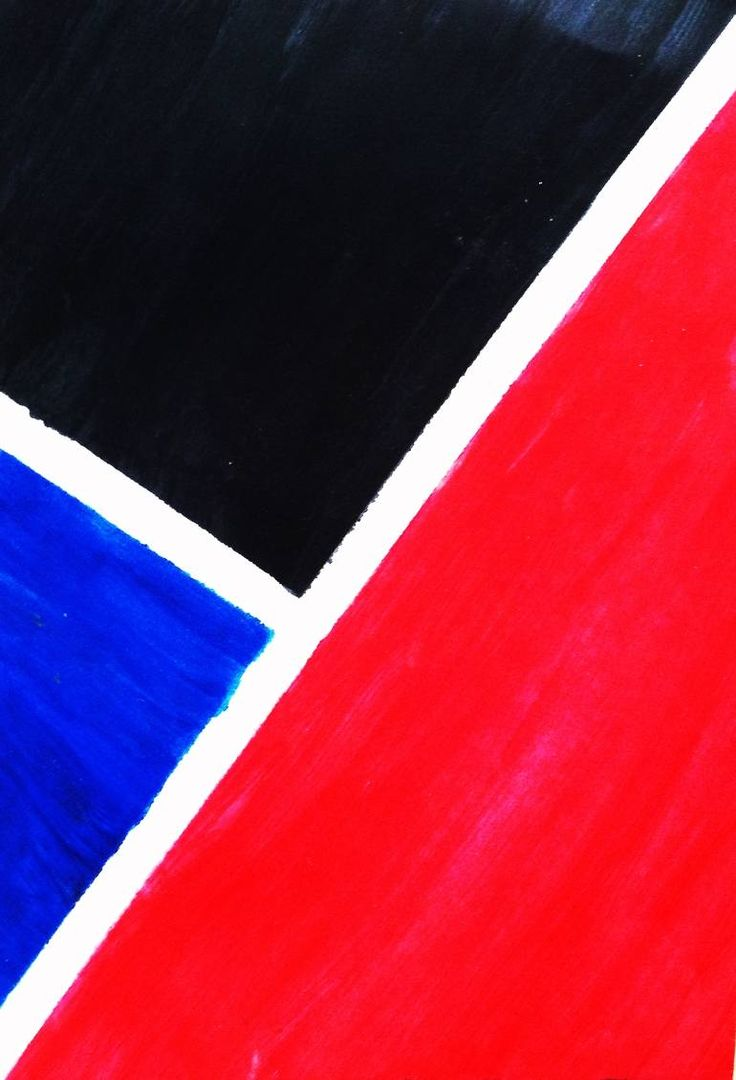 Buy Red, Blue, Black., a Oil on Paper by Aisyah Ghina from Indonesia. It portrays: Abstract, relevant to: paper, red, black, blue, bright, cubism, expressionism, abstract, geometric, minimalism, modern, oil This painting represents the complexity of modern lifestyle in a minimalist way