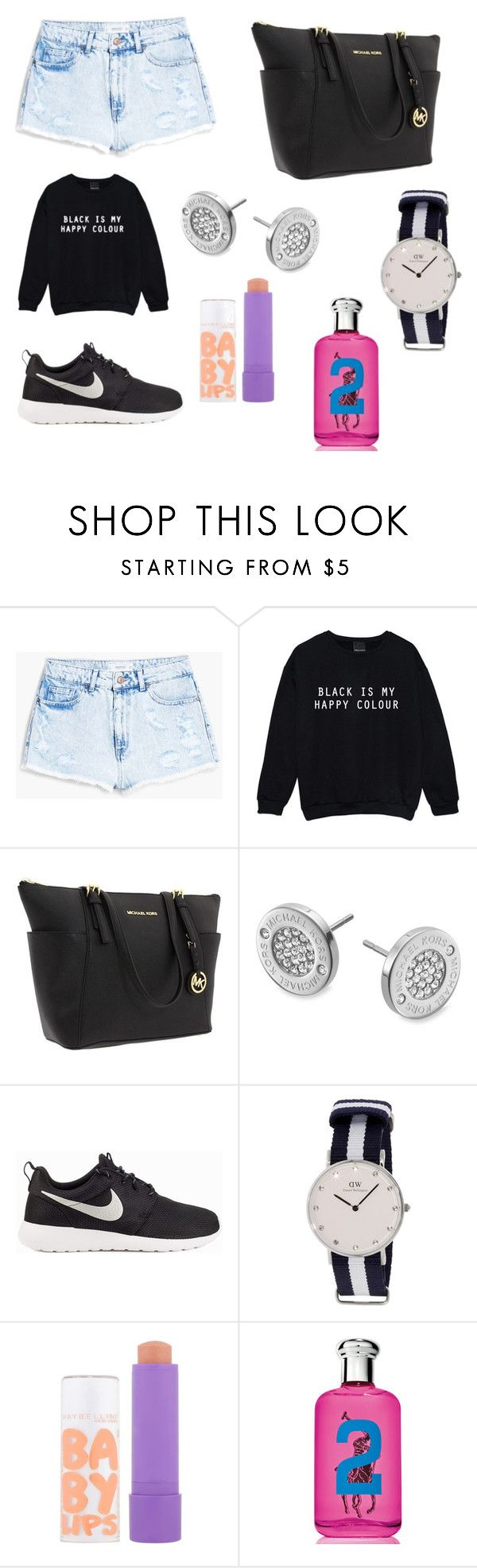 """""""Untitled #9"""" by mariachun on Polyvore featuring MANGO, Michael Kors, NIKE, Maybelline and Ralph Lauren"""