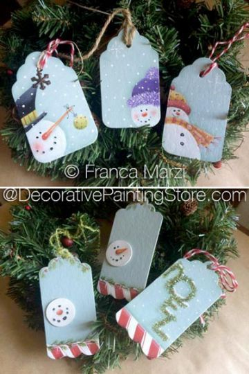 Christmas Tags ePattern - Franca Marzi - PDF DOWNLOAD | Pinterest |  Christmas tag, Painted patterns and Decorative paintings - Christmas Tags EPattern - Franca Marzi - PDF DOWNLOAD Pinterest