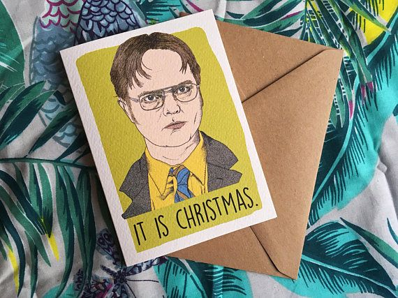 Dwight Schrute The Office Christmas Card