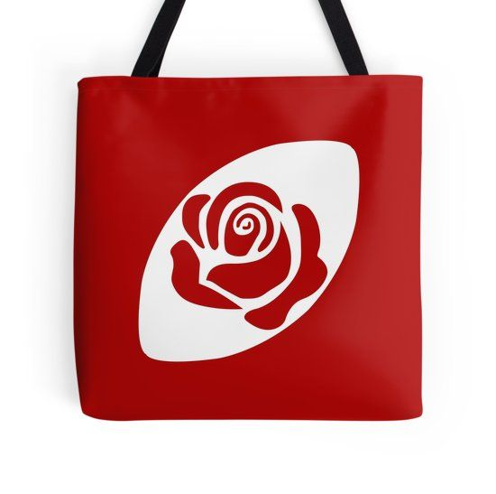 Rugby England tote bag by Fimbis Designs ________________________________ six nations, 6 nations, rugby, rose, red roses, english, graphic design, tote bag, flowers, swing low, womens rugby, women's six nations, dorm, english,