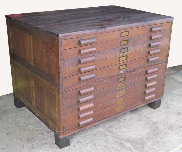 flat file cabinet antique 3