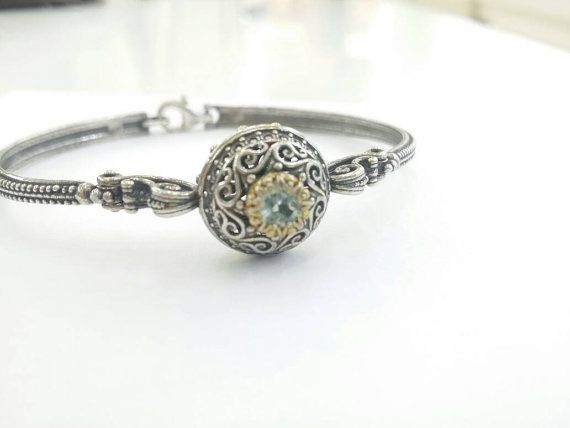 Check out this item in my Etsy shop https://www.etsy.com/uk/listing/265931786/blue-topaz-silver-byzantine-bracelet