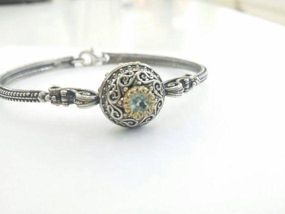 Check out this item in my Etsy shop https://www.etsy.com/uk/listing/265931786/blue-topaz-silver-byzantine-bracelet