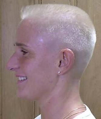 how to color a buzz cut