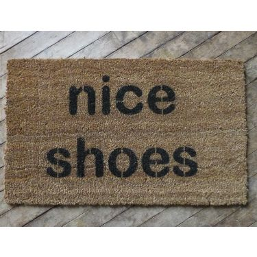 Nice Shoes Doormat :: The mental_floss Store