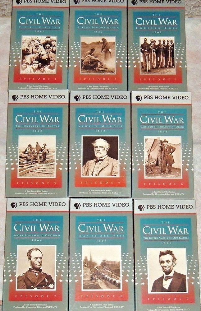 Vtg The Civil War 9 Vhs Box Set 1861 1865 Historical Military War