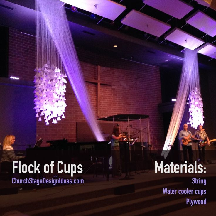 443 best church stage design images on pinterest church for Backdrop decoration for church