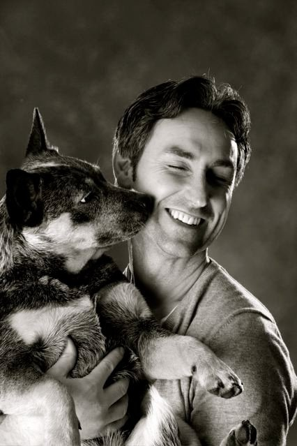 Mike Wolfe American Pickers & his cattle dog