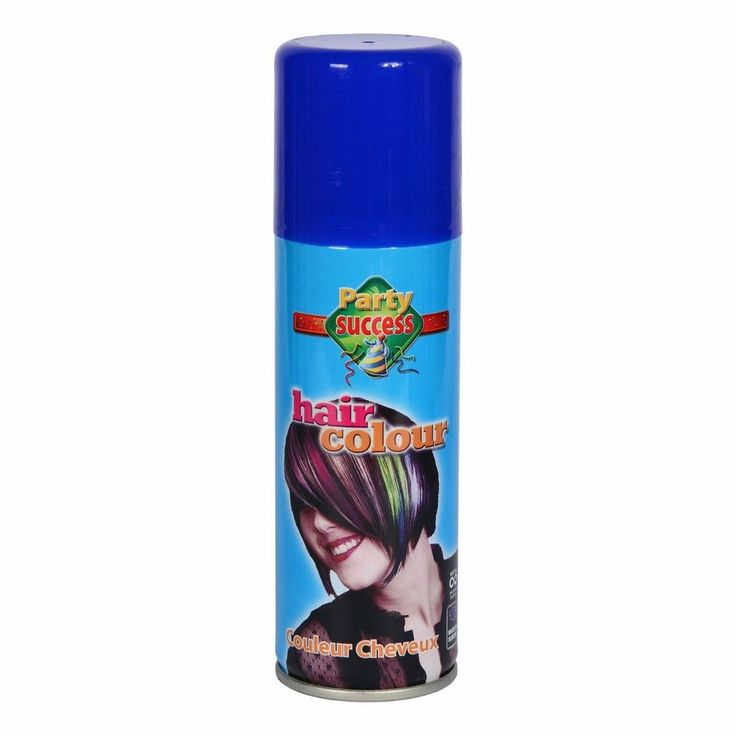 Wash Out Blue Temporary Hair Coloured Party Sprays