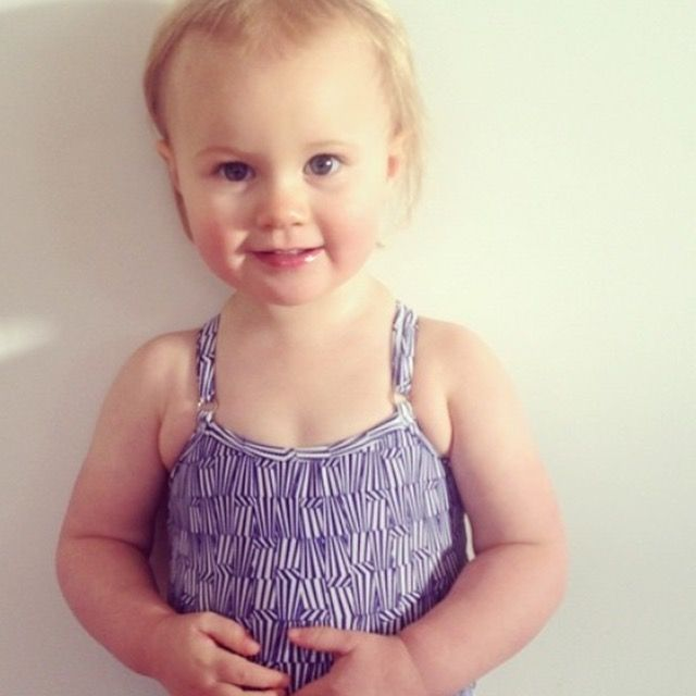 What a cutie rocking it out in her gorgeous swimmers!! Browse our beautiful European designed babies and children's clothes online today. (Photo credit @smklousia).
