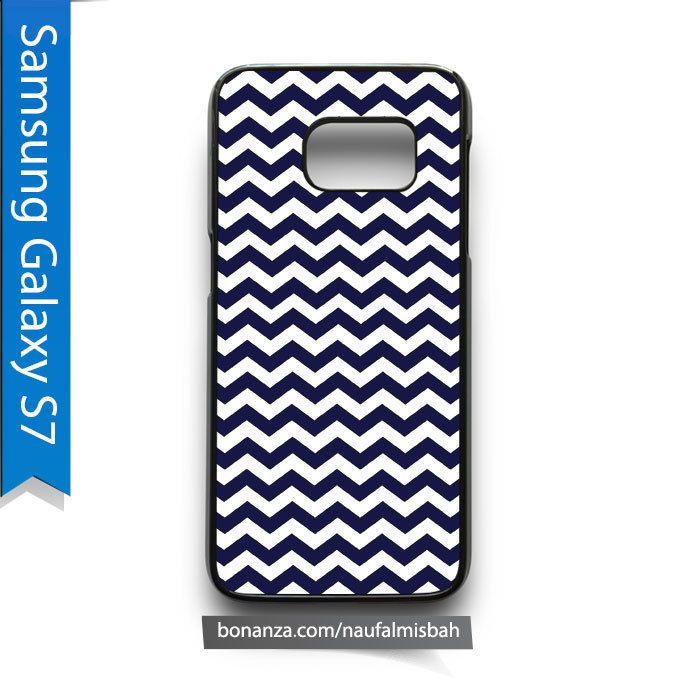 Navy Deep Blue Chevron Pattern Samsung Galaxy S7 Case Cover