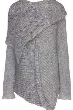 Gümüş Rengi İki Katlı Asimetrik Triko Bluz https://modasto.com/ipek-ve-arnas/kadin-ust-giyim-gomlek-bluz/br31ct4