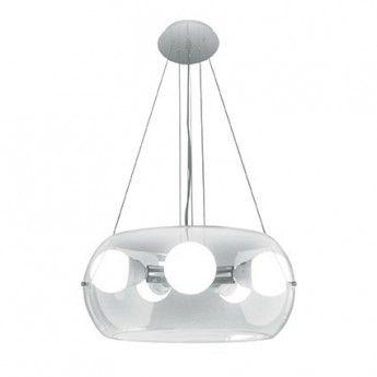 Nowoczesna lampa wisząca z serii Audi 10 - producent Ideal Lux #Ideal_Lux #Audi_10 #szkło_dmuchane #glass #design #modne_lampy #modne_wnętrze #interior #studio_oświetlenia_kraków #lampy_kraków #abanet_lampy #abanet_kraków
