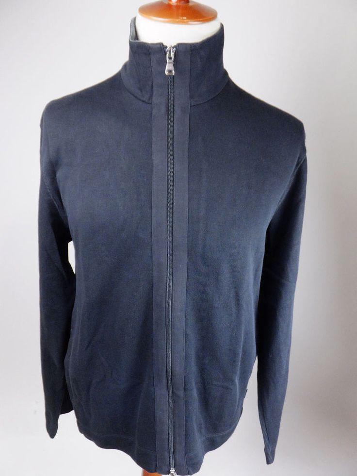 HUGO BOSS Eolle Black Label Full Zip Turtleneck Sweater Men Large NEW #HUGOBOSS #FullZip