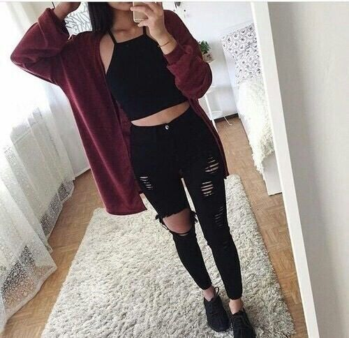 Best 20  Burgundy Outfit ideas on Pinterest | Formal outfits ...