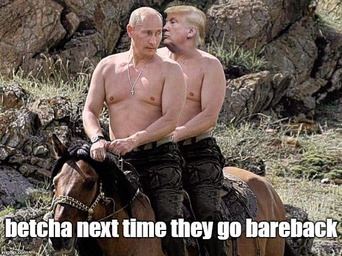 Putin Trump on Horse