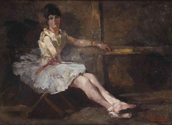 George Hendrik Breitner, Balletdanseres; ballerina taking a rest
