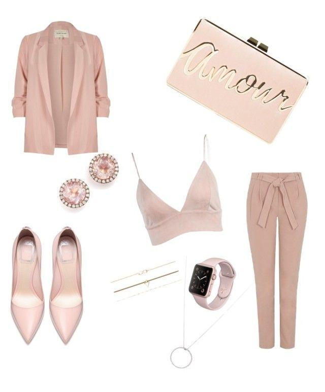 """Rose gold 🎈"" by iuliacalin on Polyvore featuring George, BCBGMAXAZRIA, River Island, Roberto Coin, Dana Rebecca Designs and Aéropostale"