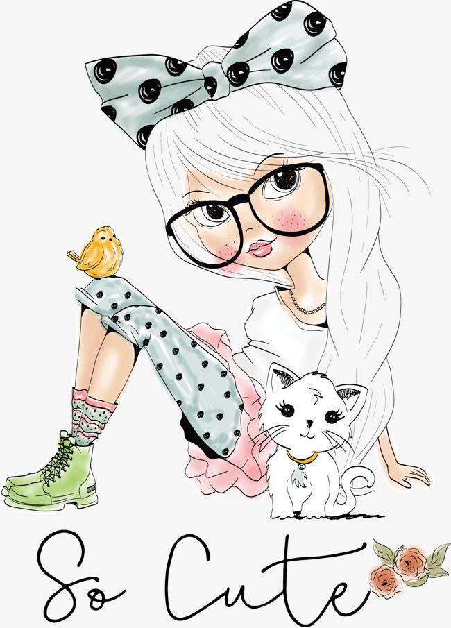 Korean Girl Pattern Material Decoration Notebook Pattern Creative Cards Png Transparent Clipart Image And Psd File For Free Download Cute Drawings Cute Illustration Cute Art