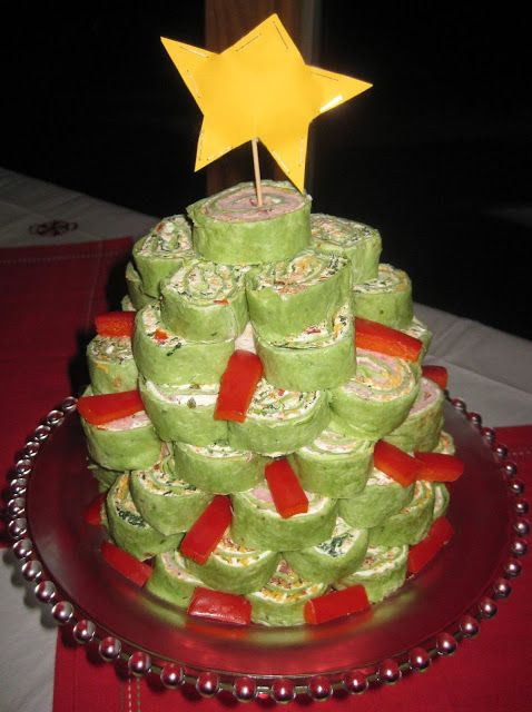 Living on Cloud Nine: SPINACH TORTILLA ROLL-UP TREE