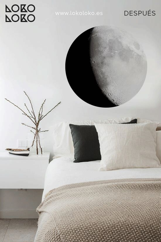 Luna / Moon. #wallsticker #vinilospared #dormitorios #decoracion  3lokolokodecora