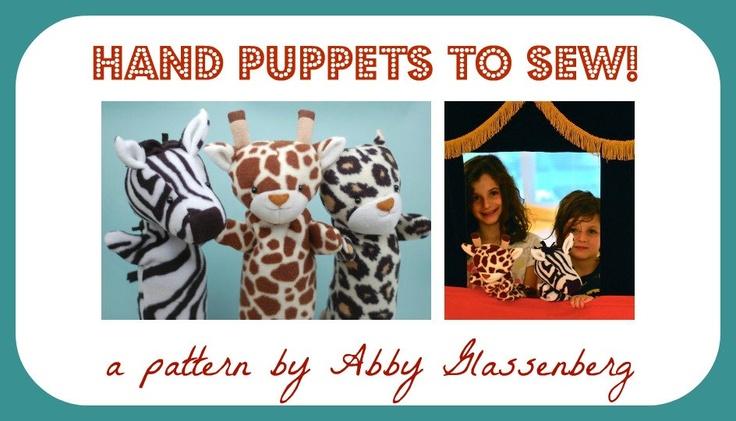 Hand Puppets - PDF Sewing Pattern
