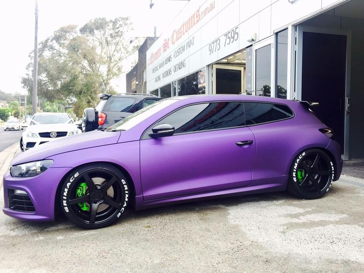 #Volkswagen_Scirocco #Modified #Matte_Purple