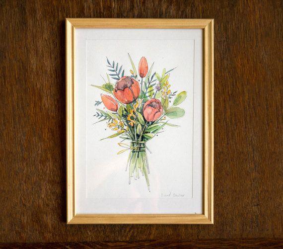 Flower bouquet | original watercolor painting