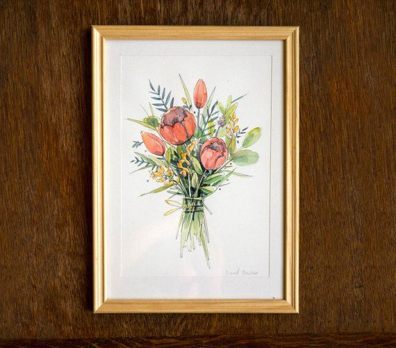 Flower bouquet | original watercolor painting