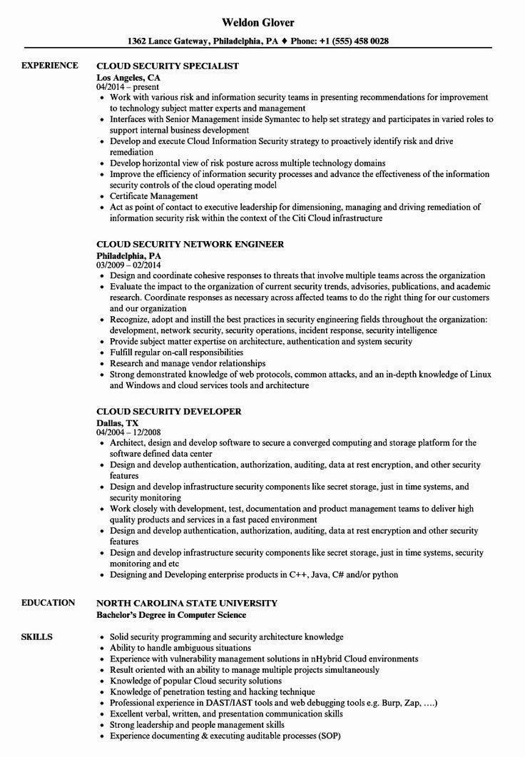 Aws Cloud Engineer Resume New Cloud Security Resume Samples In 2020 Manager Resume Job Resume Examples Resume
