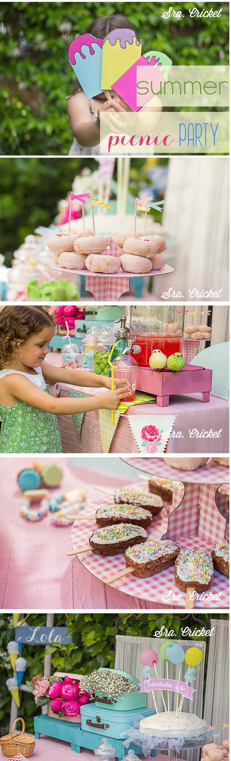 Fiesta infantil de verano Summer picnic party #kidsparty #fiestasinfantiles #summerparty #icecreamparty ICE CREAM PARTY #fiestadehelado Table Decorations, Party, Summer, Ice Cream, Food, Ice Cream Party, Candy Stations, Beverages, Invitations