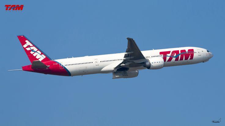 Toutes les tailles | TAM Linhas Aéreas / Boeing 777-32WER / PT-MUC | Flickr: partage de photos!