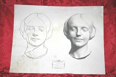 Lithograph 1866 Cours de Dessin Jerome Bargue Goupil Van Gogh Dali Picasso