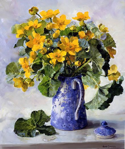 Kingcups - Limited Edition Print   Mill House Fine Art – Publishers of Anne Cotterill Flower Art