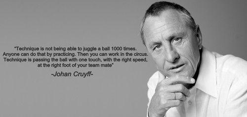 Johan Cruyff on technique | Soccer Inspiration and ...