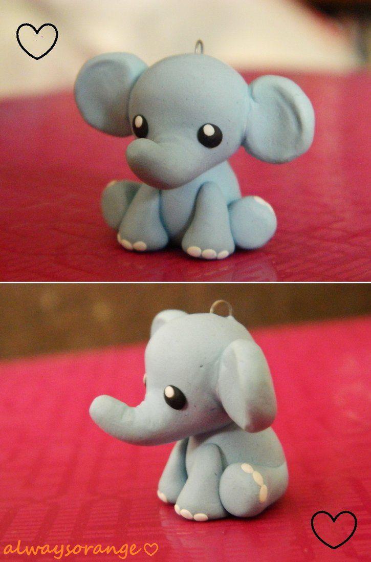 Cute elephant clay charm!