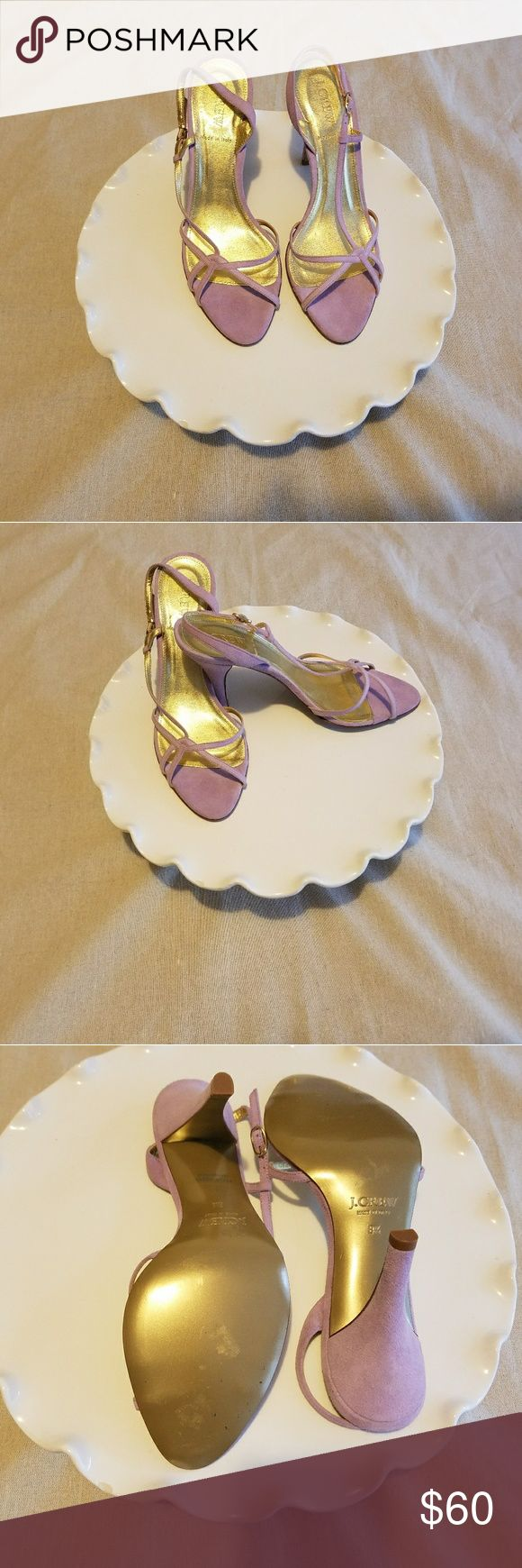 J Crew Nicolette Suede Slingback Sandal Heels 8.5 NWOT Super cute light purple/lavendar scrappy heels from J Crew J. Crew Shoes Sandals