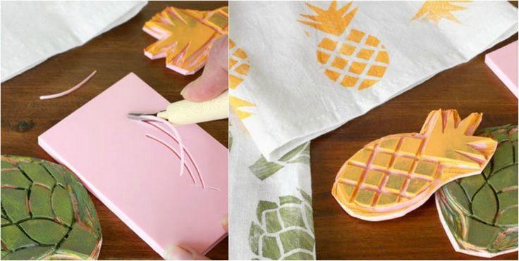 Ananas stempel selber machen mit einem set letras decoradas pinterest - Stempel selber machen set ...
