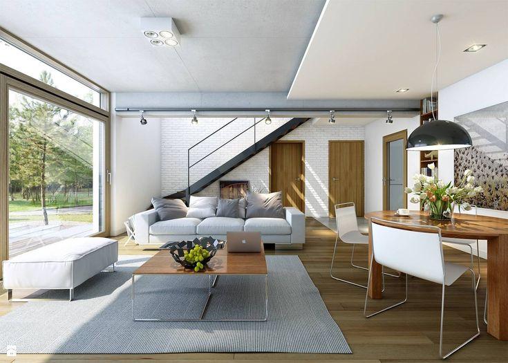 Salon styl Minimalistyczny - zdjęcie od DOMY Z WIZJĄ - nowoczesne projekty domów - Salon - Styl Minimalistyczny - DOMY Z WIZJĄ - nowoczesne projekty domów