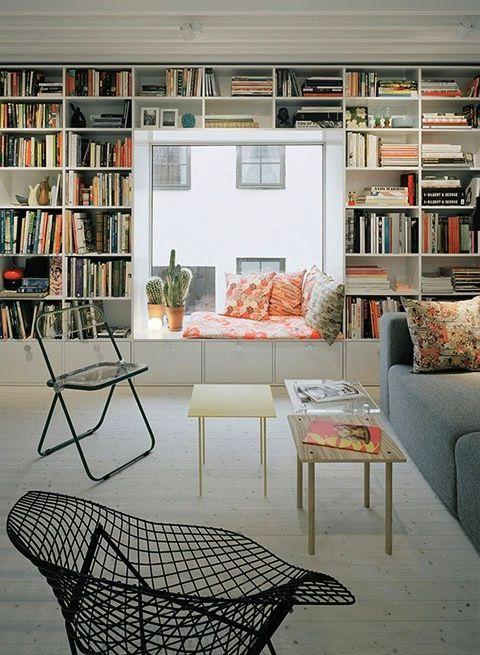 bookshelves: Libraries, Bookshelves, Built In, Books Shelves, Interiors, Living Room, Reading Nooks, Bookca, Window Seats
